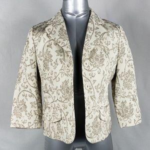 ANN TAYLOR THE LOFT Textured Floral Blazer